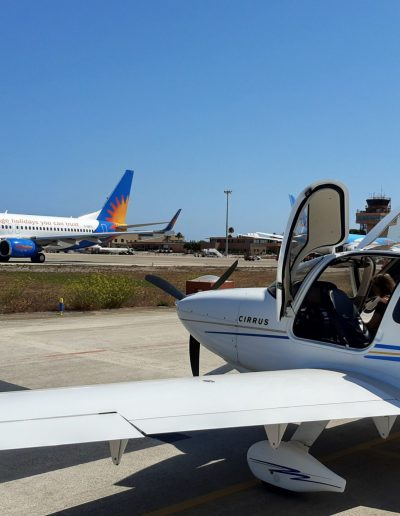 Cirrus SR20 Aircraft at Menorca airport
